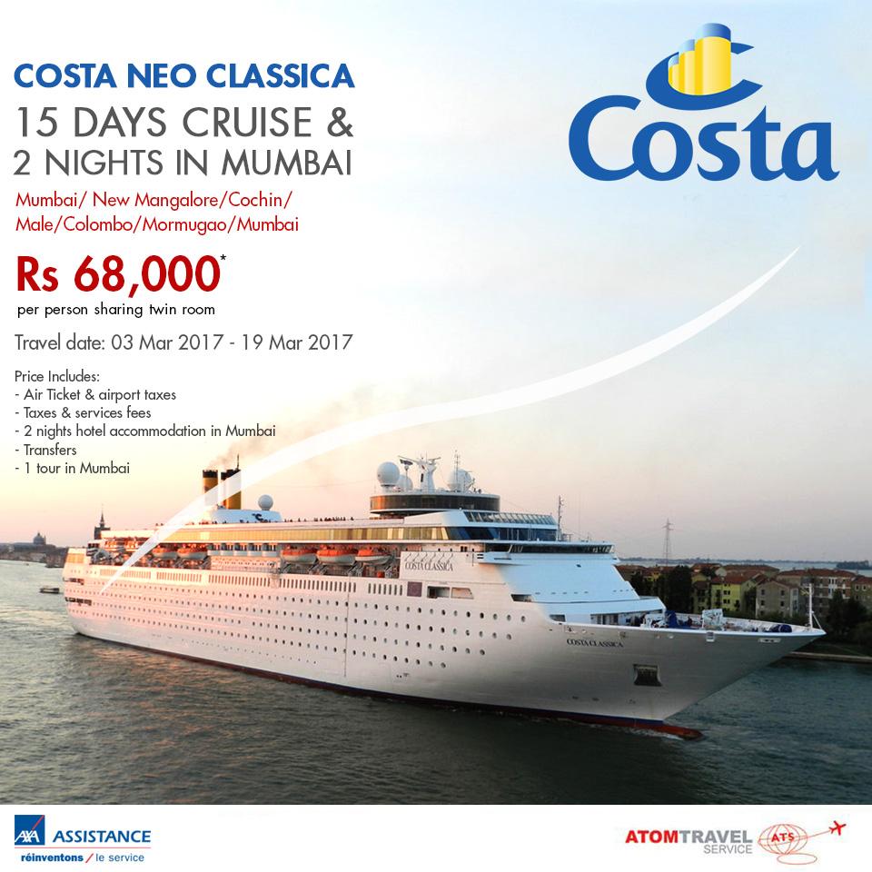 Costa Neo Classica 03 March 2017 Atom Travel