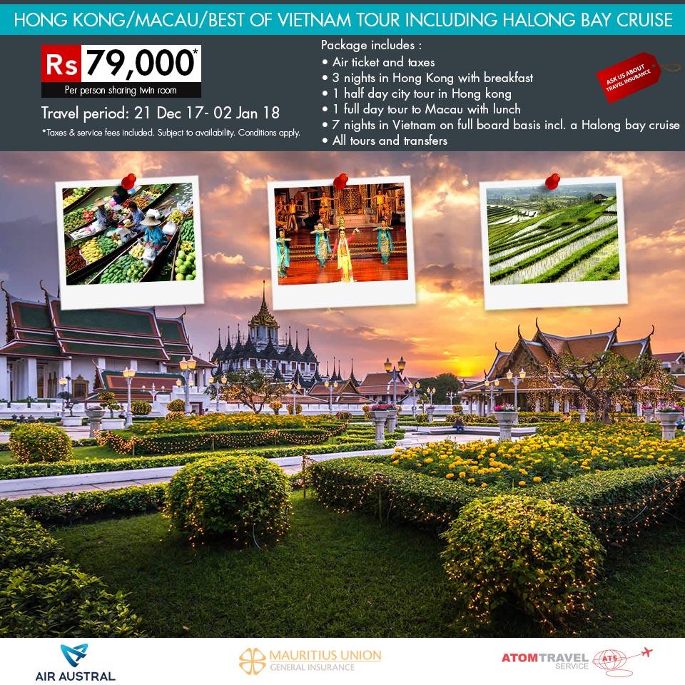Hong Kong / Macau / Best of Vietnam - December 2017 - Atom Travel