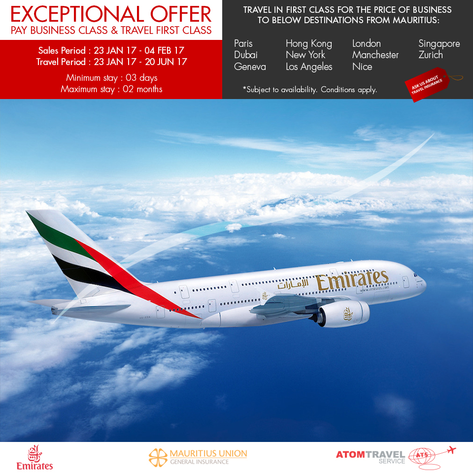 Exceptional Offer On Emirates January 2017 Atom Travel