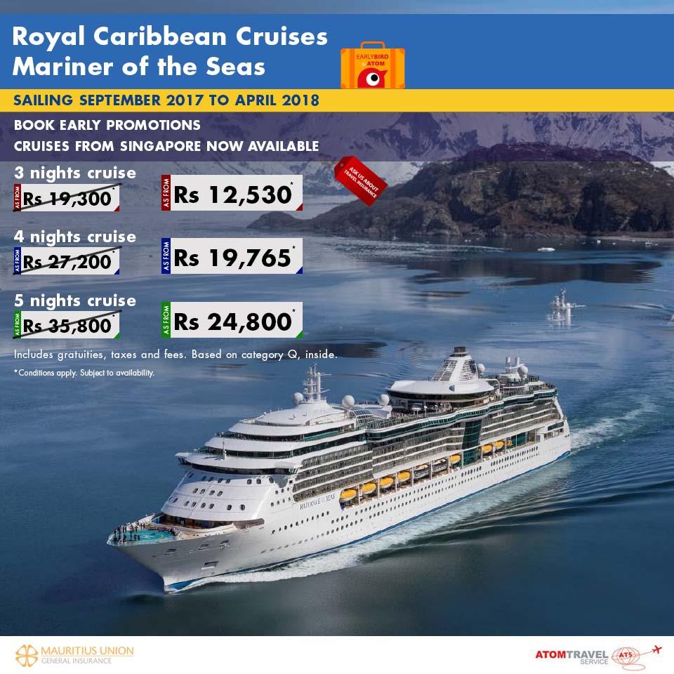 Royal Caribbean Cruises: Mariner of the Seas September 2017 to April 2018  Sailing - Atom Travel