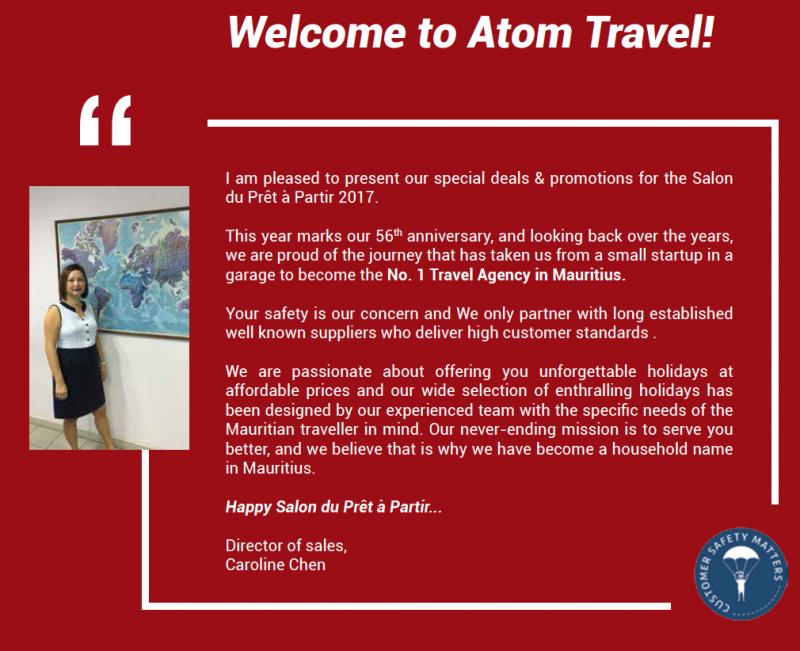 Atom Salon Pret a partir brochure