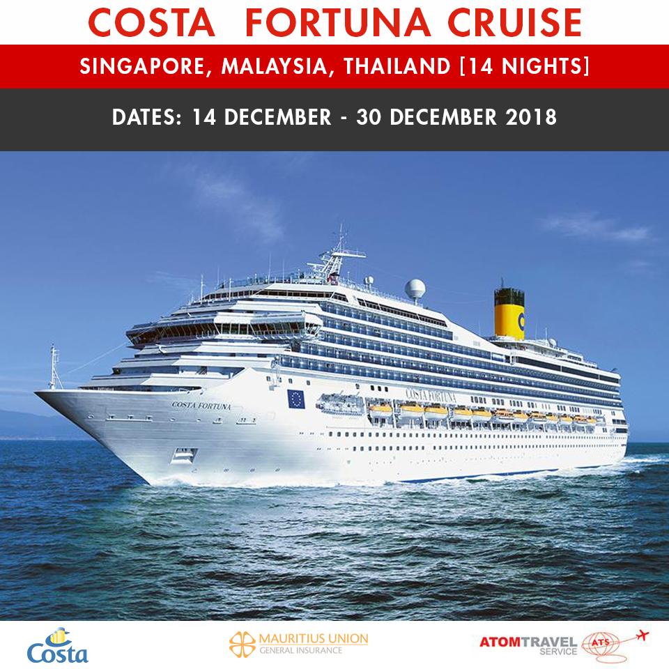Costa Fortuna 14 Nights 16 Dec 2018 Atom Travel