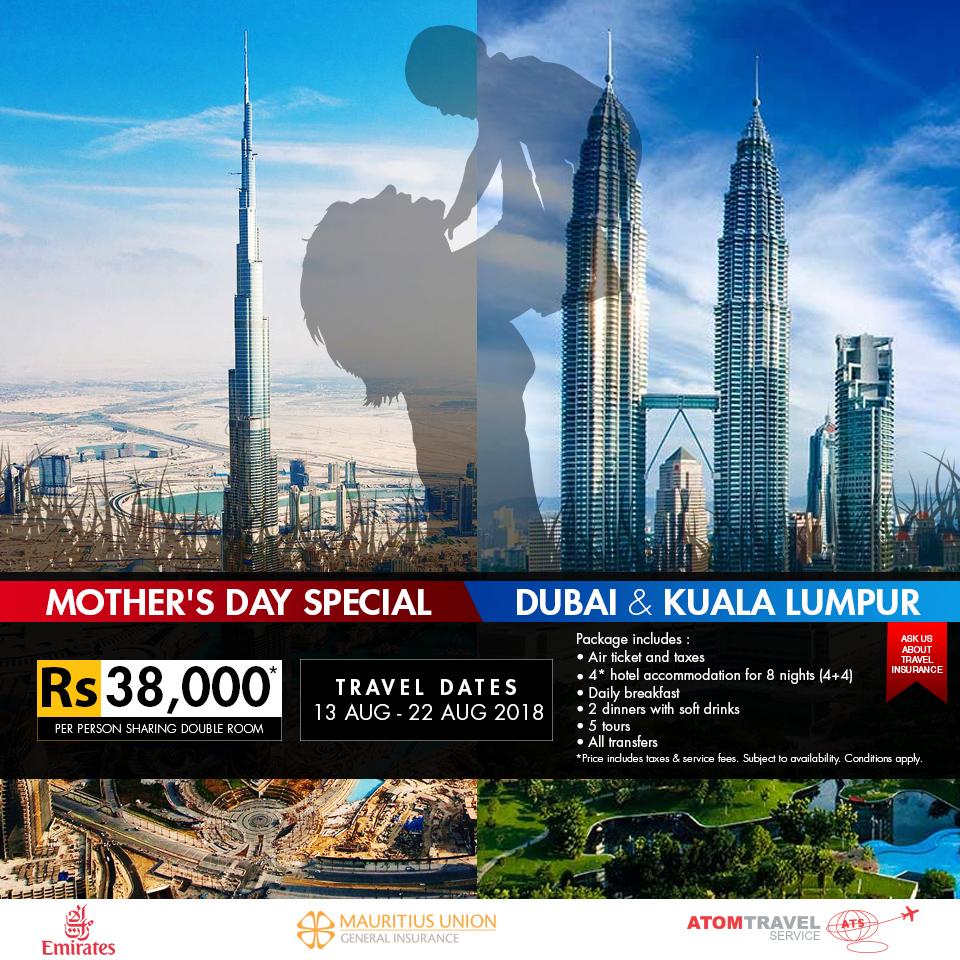 Dubai / Kuala Lumpur Package (August 2018)
