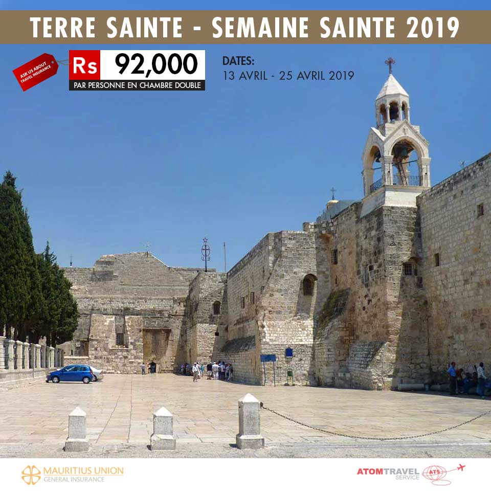 Terre Sainte - Semaine Sainte 2019 - Atom Travel