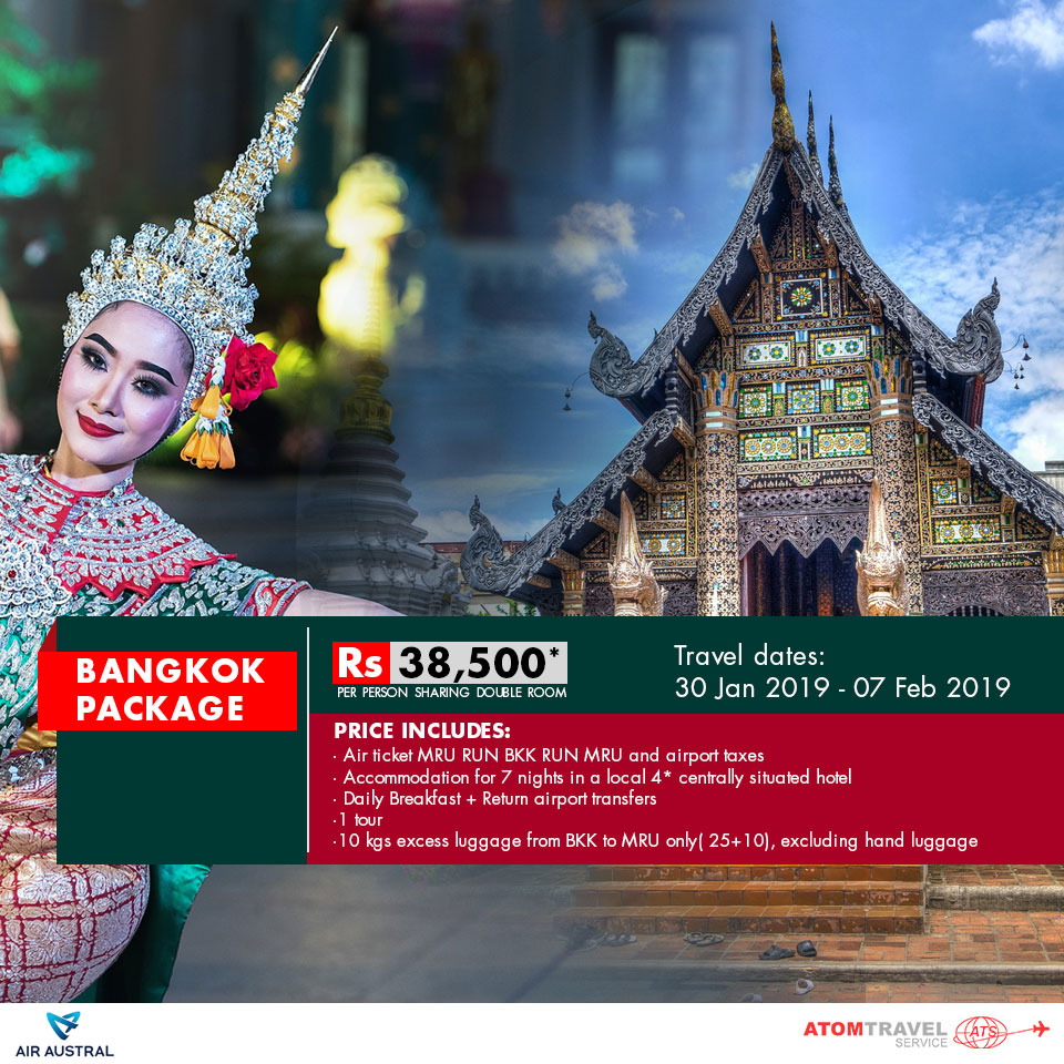 Bangkok Package (30 Jan - 07 Feb 2019) - Atom Travel