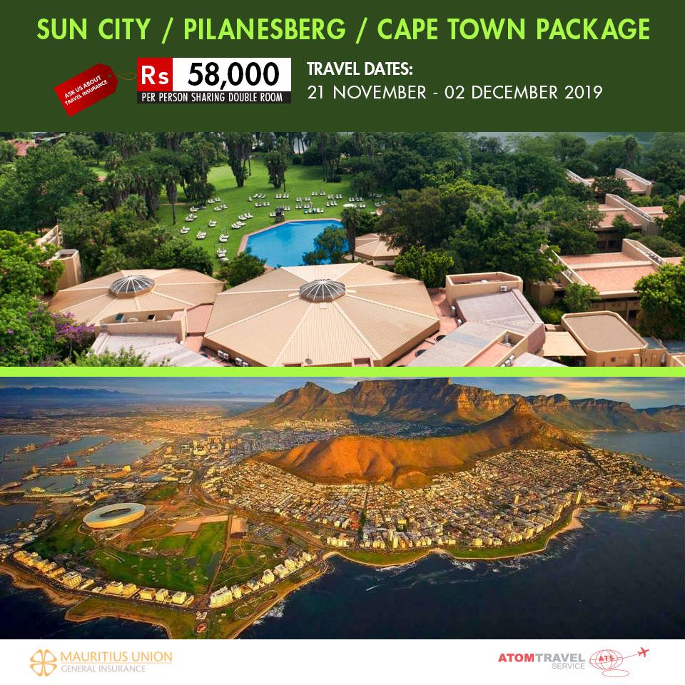 Sun City / Pilanesberg / Cape Town (Nov 2019) - Atom Travel