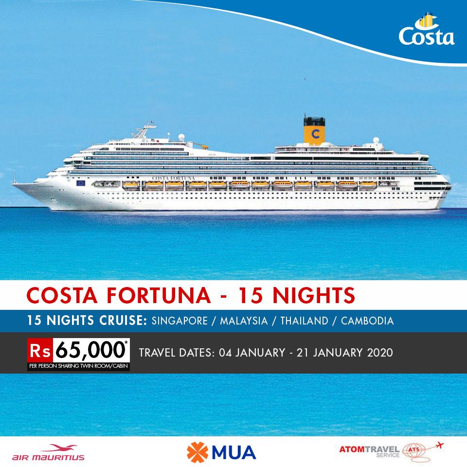 Cruise January 2020.Costa Fortuna 15 Nights 06 Jan 2020 Atom Travel
