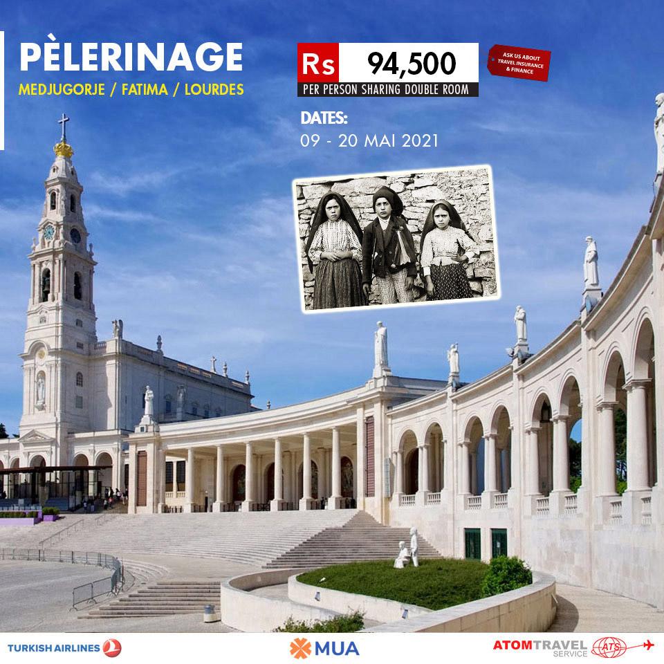 Calendrier Pelerinage Lourdes 2021 Pelerinage: Medjugorje / Fatima / Lourdes (MAI 2021)   Atom Travel